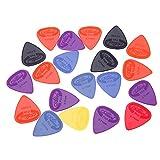 Alice – Mediators pour guitares et basses – 12 x mediators nylon grip .71mm