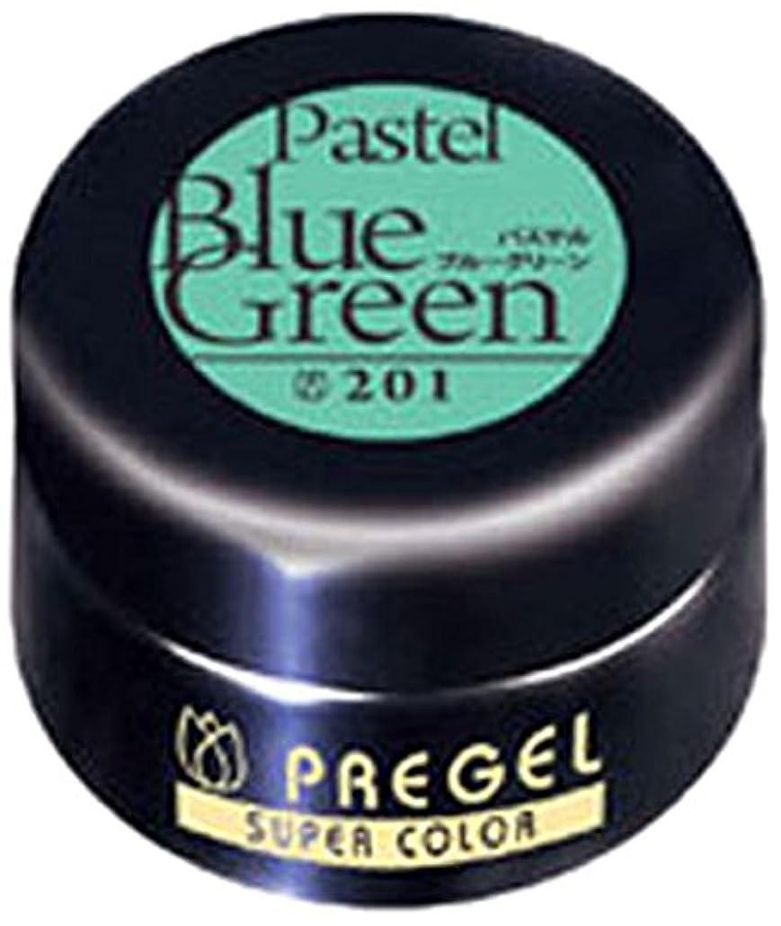 局同等の消去プリジェル スーパーカラーEX パステルブルーグリーン 4g PG-SE201 カラージェル UV/LED対応