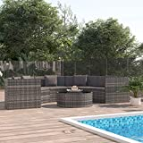 <span class='highlight'>Festnight</span> 6 Piece <span class='highlight'>Garden</span> <span class='highlight'>Lounge</span> <span class='highlight'>Set</span> with Cushions, Outdoor Sofa <span class='highlight'>Set</span> Patio <span class='highlight'>Furniture</span> <span class='highlight'>Set</span> Poly <span class='highlight'>Rattan</span> Grey (UK/IE/FI/NO Only)
