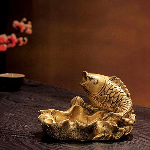 Yanhg asbak retro asbak, nieuwe Chinese klassieke persoonlijkheid creatieve woonkamer salontafel ornamenten kantoorbenodigdheden Crafts 14 cm * 12 cm * 8 cm 6 voor buiten