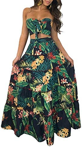 Long tropical dresses