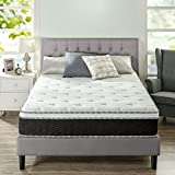 Zinus 12 Inch Euro Top Supportive Firm Hybrid Mattress/Pocket Innersprings for Motion Isolation/Pressure Relieving Design/Mattress-in-a-Box, Full