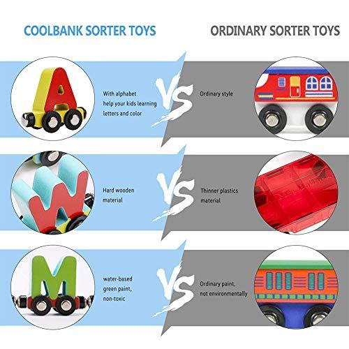 Magnetische Eisenbahnwagen Alphabete/Digitalen, Spielzeug Set Spielzeug Zug Set für Kinder Kleinkind Jungen Mädchen 27 Teile/satz Magnetisches digitales Auto