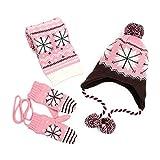 BAONUANM Conjunto De Sombrero para Niños,Moda Snowflake Bebé Rosa Sombrero...