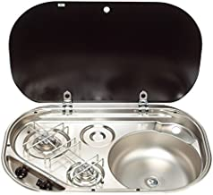 Dometic MO832207D00FPUS 2-Burner Sink/Stove Combination w/Glass Lid