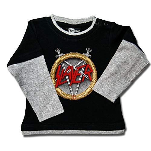 Slayer (Pentagram) - Baby Skater Shirt Größe 68/74
