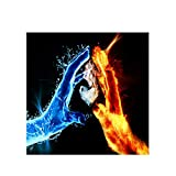 "Nordic Style Fire and Water Love Warrior Posters and Prints Canvas Paintings Wall Art Picture for Living Room Decoration 19.6""x19.6""(50x50cm) No frame"