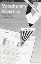 Vocabulary Workshop: Level F, Answer Key to Student Text, Enhanced Edition