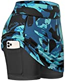BLEVONH Tennis Skirts for Women,Lighterweight Cool Athletic Golf Skorts Ladies Fashionable Print Casual TravelSkort with Pocket Gym Clothes S