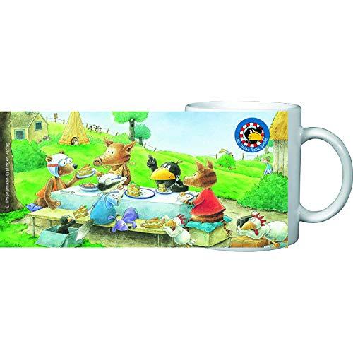 Der kleine Rabe Socke Kinder Tasse Becher zu Tisch, in Geschenkbox, Porzellan 200l