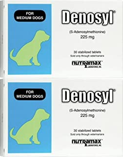 Nutramax Denosyl Tablets 225mg, Medium 60ct (2 x 30ct)
