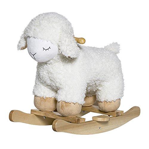 Bloomingville Mouton à bascule, Naturel/Blanc