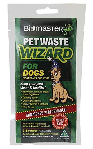 Pet Waste Wizard Digester Sachets, Beneficial Enzymes to Break Down Waste, (100% Natural Concentrate, 2 Sachets)