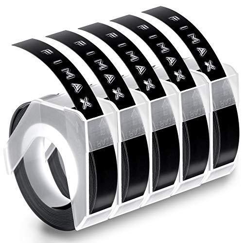 Fimax 3d cinta estampadora Compatible con etiquetas 3d dymo 9mm x 3M label tapes usar para etiquetadora dymo Omega / Junior / Organizer Xpress / Office-Mate II