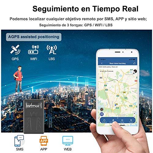 Mini Rastreador GPS, GPS Localizador para Personas Portátil GPS Tracker en Tiempo Real,GPS+ WiFi+LBS,con Imanesa,Impermeable ,Alarma SOS,Geo-Cerca,para Niños,Ancianos,Documentos Importantes TK921