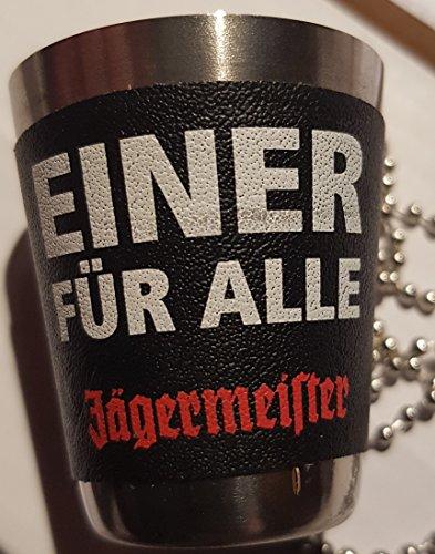 Jägermeister Metalbecher glas gläser mit kette
