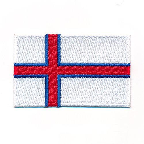 60 x 35 mm Färöer Inseln Schafsinseln Tórshavn Flagge Aufnäher Aufbügler 1022 B