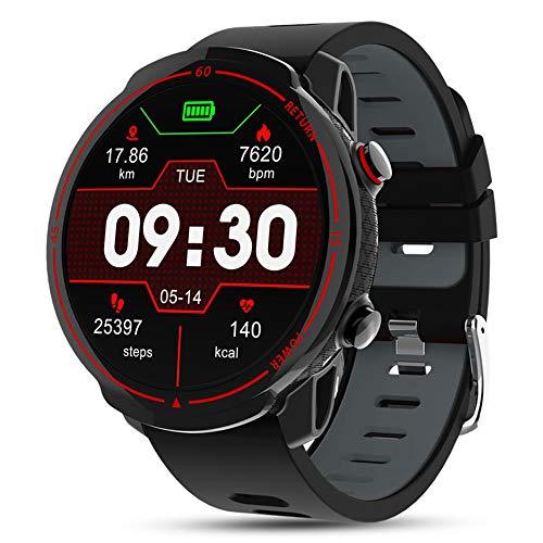 DOOK SmartWatch, 1.3'' Reloj Inteligente IP67 con Pantalla Táctil, Pulsera De Actividad Inteligente Hombre para Deporte, Monitor De Actividades, Podómetro Pulsómetro para iOS Android