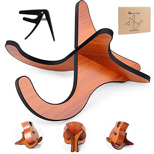 Supporto Violino,Stand Ukulele,Stand Chitarra Pieghevole Supporto in Legno per Chitarra Acustica/Classica Basso a Forma X Anti-Scivoloso