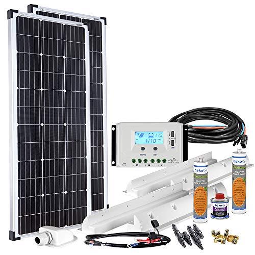 Offgridtec Solaranlage für Wohnwagen 200 Watt / 12 V - Komplett-Set für Wohnmobil, 200W 002735