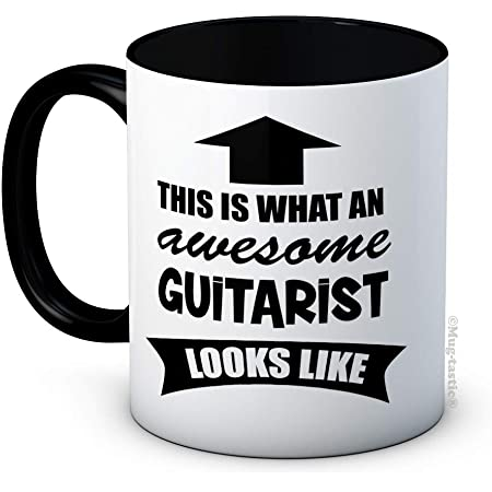 This is What an Awesome Guitarist Looks Like - Ceramic Coffee Mug - Birthday