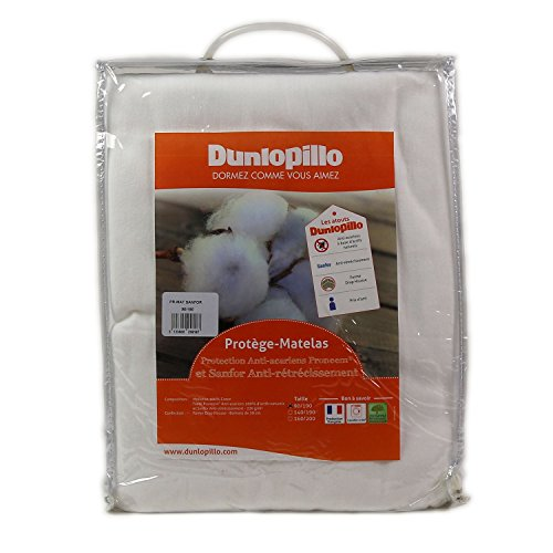Dunlopillo PLSALPH160200DPO Protector de colchón 160 x 200 cm-Blanco