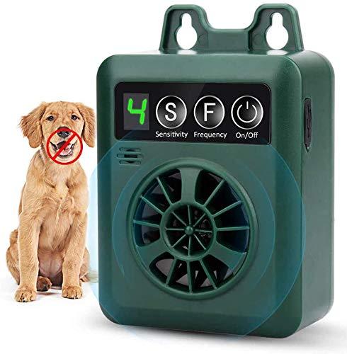FcrenHuang Anti Barking Device, Bark Control Device with 4 Adjustable Ultrasonic Volume Levels, Automatic Ultrasonic Dog Bark Deterrent for Small Medium Large Dog