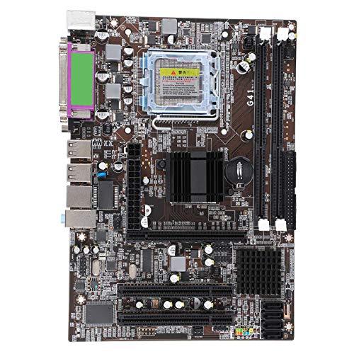 Pusokei Desktop-Motherboard, LGA771-CPU Für Xeon 771, DDR3 1066 / 1333MHz-Speicher, 2 * DDR3-DIMM, 2 * 4G DDR3, PCI-E X16-Steckplatz, G41-Chip-Zweikanal-Mainboard