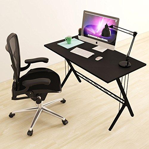 Modern Design Computer Desk Durable Workstation for Office, Home Office, Dorm Room, Black (Kitchen)