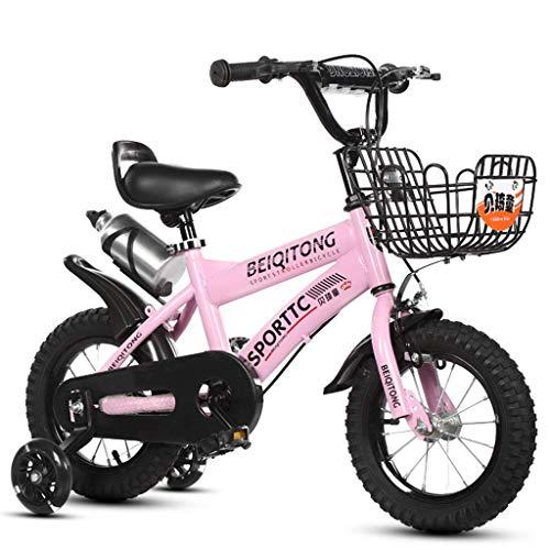WYBD.Y Bicicleta sólida para niños, Bicicleta para niños 'S y niña' con Ruedas de Entrenamiento, Bicicleta de montaña para niños de 2-9 años, Freno en V, Horquilla de suspensión