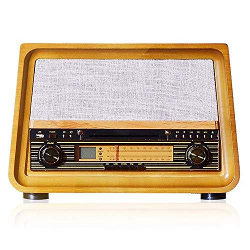 Zavddy Tocadiscos Retro gramófono Bluetooth Vinilo Moda Record Desktop Player Inicio pequeño Altavoz Tocadiscos para Casa (Color : Yellow, Size : 425x335x295mm)