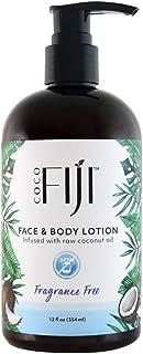 Coco Fiji, Coconut Oil Infused Face & Body Lotion, Fragrance Free 12oz