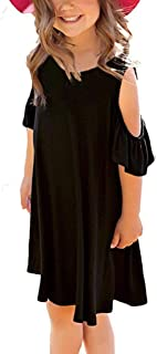 Yumiki 子供ドレス キッズドレス 無地 ワンピース 女の子 ガールズ フォーマル 発表会 結婚式 入園式 肩出し オフショルダー インナー ワンピース 海 入園式 演奏会 旅行