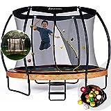 Sportstech Gartentrampolin Marktneuheit HTX500 | mit 360° Wassersprinkler + Cooler Sprungmatte | Outdoor Spielzeug Komplettset Trampolin bis 100/120 kg + Sicherheitsnetz | Ø 244/305 cm für Kinder