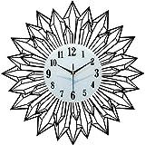 Reloj de Pared Negro, Reloj de Pared silencioso, Reloj de Moda para Sala de Estar, Reloj de Cuarzo Deco (40 cm, 50 cm, 60 cm Opcional) (Tamaño: 60 cm)