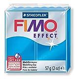 FIMO Effect colore Blu Trasparente 57g, Artigianato FIMO, un Forno di Argilla, Argilla Modellazione di Argilla fatti a Mano, Argilla Bakeable, Cuocere l'Argilla, Argilla Accessori, 8020-374