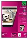 Sigel LP341 - Papel de fotografía doble cara (para impresora láser, A4, 135 g, 200 hojas), color blanco brillante