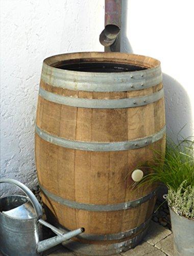 Temesso Regentonne, Holzfass, Weinfass, Regenfass, Barrique, Holz, Fass 225 Liter inkl. Wasserhahn