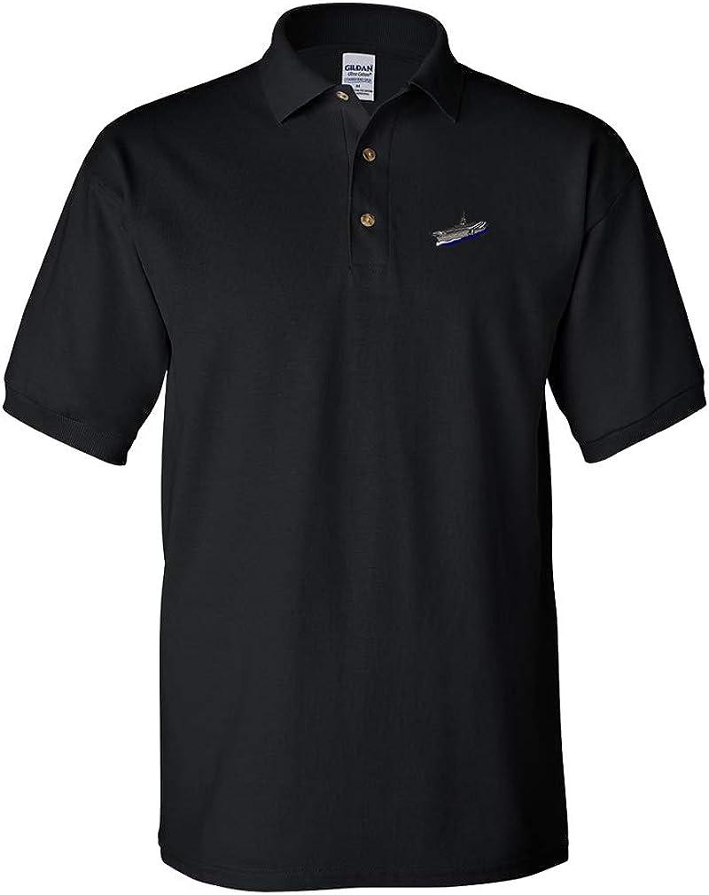 Custom Polo Shirt Aircraft Carrier A Design Very popular Embroidery Go Popular product Cotton