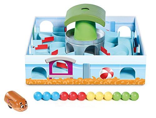 TOMY Hamsterrennen - Geschicklichkeitsspiel für die ganze Familie – Klassisches Labyrinth Spiel – Hochwertiges Kinderspielzeug ab 4 Jahren