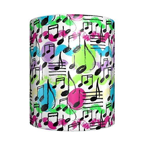 Música Nota Instrumento musical Escuchar cerámica Taza de café única novedad taza de té en casa oficina para los amantes del anime Festival regalo de cumpleaños