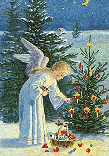 Am Weihnachtsbaum die Lichter brennen