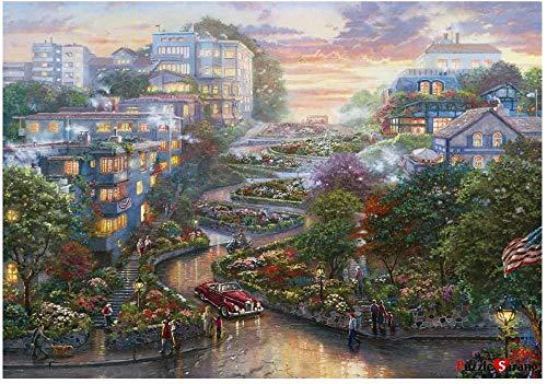 XiuTaiLtd San Fransico Lombard Street 1000 Piece Jigsaw Puzzle.Beautiful Decoration, Pleasant Play for Friends