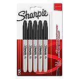 Sharpie 1986051 Lot de5 Marqueurs Permanents Pointe Fine Noir