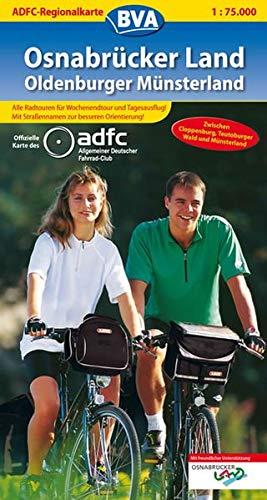 ADFC-Regionalkarte Osnabrücker Land /Oldenburger Münsterland mit Tagestouren-Vorschlägen, 1:75.000: Zwischen Cloppenburg, Teutoburger Wald und Münsterland (ADFC-Regionalkarte 1:75000)