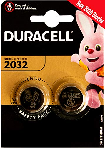 Duracell DL2032 / CR2032 Lithium Button Cell, 3V, 1 Pack
