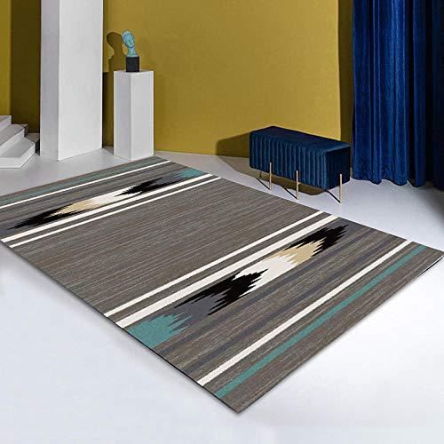 CCTYJ Marrón Elegante Moderno patrón Minimalista impresión Digital Dormitorio Junto a la Cama Sala de Estar Pasillo decoración del hogar Alfombra-El 160x200cm fácil de Limpiar Igual Que la Foto Pelo