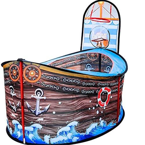 YGB Nueva Carpa de Juegos para bebés súper Liviana, Carpa de Juegos para niños Parque de Atracciones Exclusivo para niños movible Piscina de Bolas Grande/Casa de Juegos como un Barco