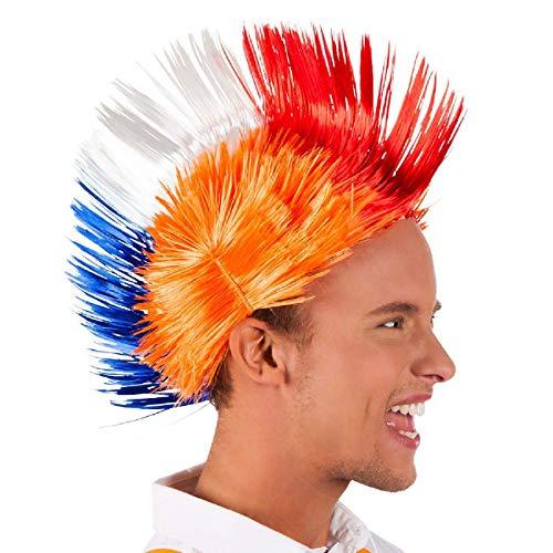 Generique - Perruque Punk Pays-Bas Orange Adulte