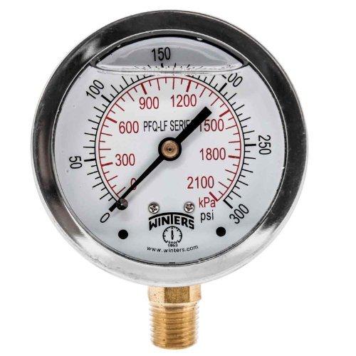 Set of 4 Winters PFQ807LF PFQ-LF Gauge Pressure Dia 2.5